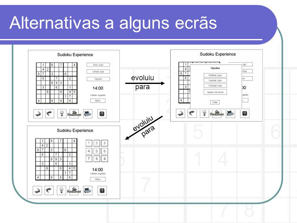 Storyboard do PBF tempo acaba nos 1os Storyboard do PBF escolhido (tarefa de Jogar um jogo de Sudoku) :