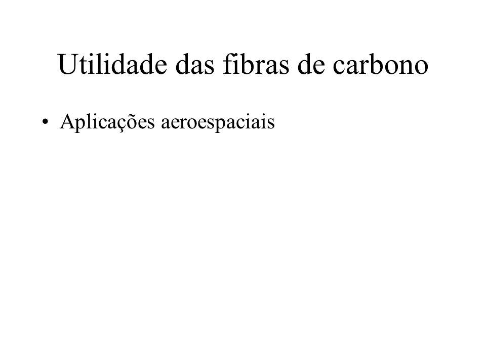 Utilidade das fibras de carbono Aplicações aeroespaciais