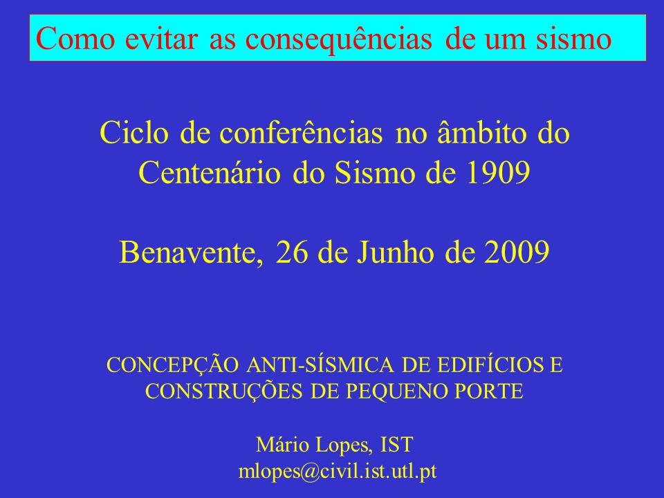 Como evitar as consequências de um sismo Turquia, 1999