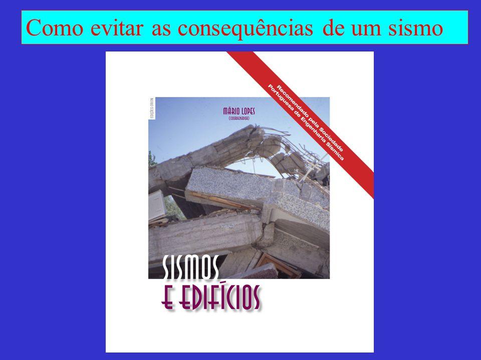 Como evitar as consequências de um sismo PORMENORIZAÇÃO