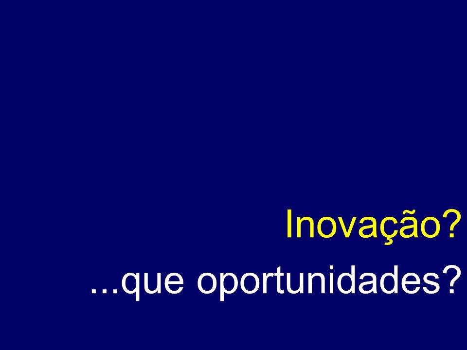 Inovação ...que oportunidades