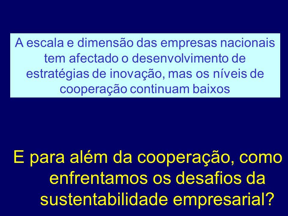 E para além da cooperação, como enfrentamos os desafios da sustentabilidade empresarial.