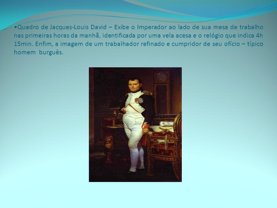 Quadro de Jacques-Louis David – Exibe a coroação de Napoleão.
