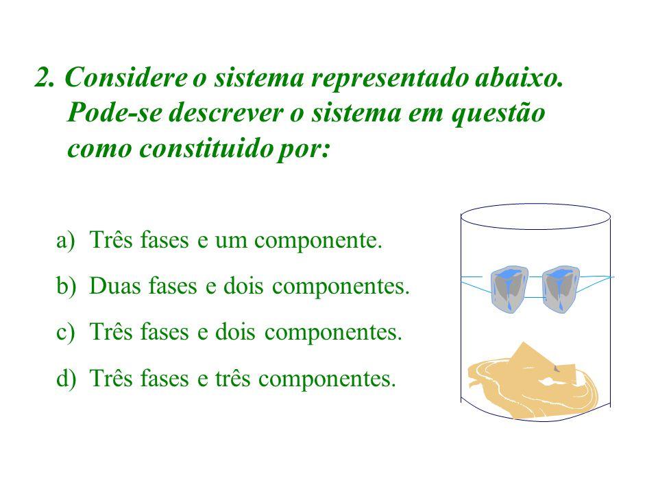 EXERCÍCIOS DE FIXAÇÃO Respostas Determine onde encontramos: a) Substância pura; I e IV b) Mistura; II e III c) Somente substância simples; I d) Soment