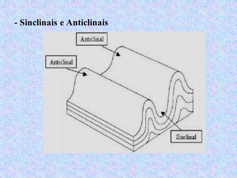 - Sinclinais e Anticlinais