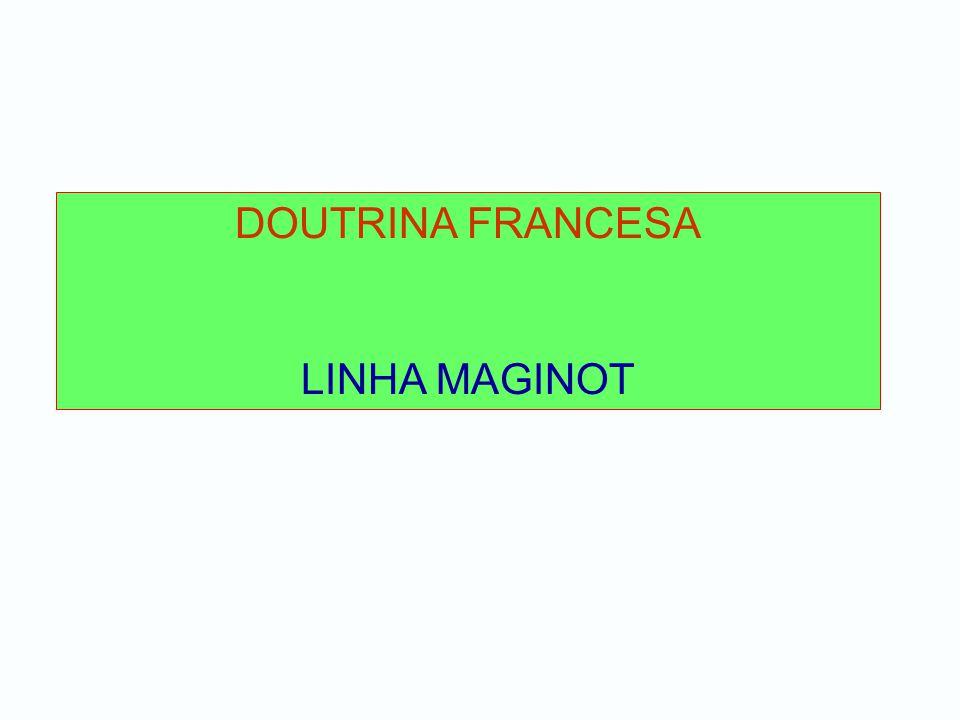 DOUTRINA FRANCESA LINHA MAGINOT