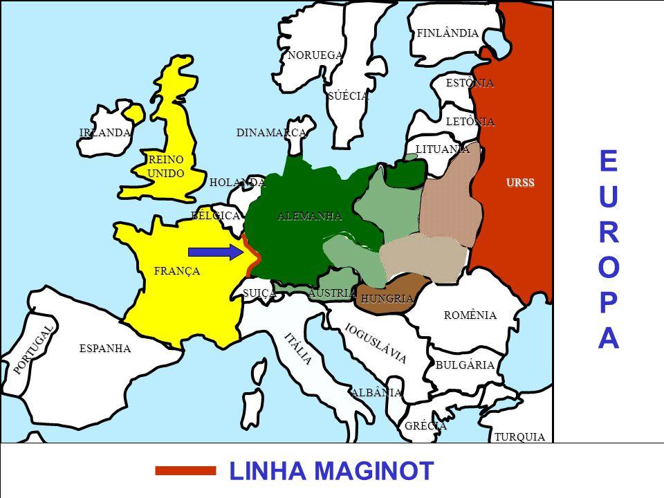 EUROPAEUROPA ITÁLIA ALEMANHAPOLÔNIA URSS FRANÇA ESPANHA ÁFRICA TURQUIA GRÉCIA BULGÁRIA ROMÊNIA HUNGRIA PORTUGAL REINOUNIDO IRLANDA SÚÉCIA NORUEGA IOGU