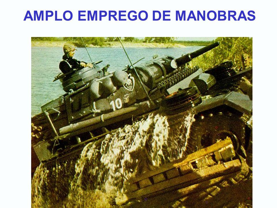 AMPLO EMPREGO DE MANOBRAS