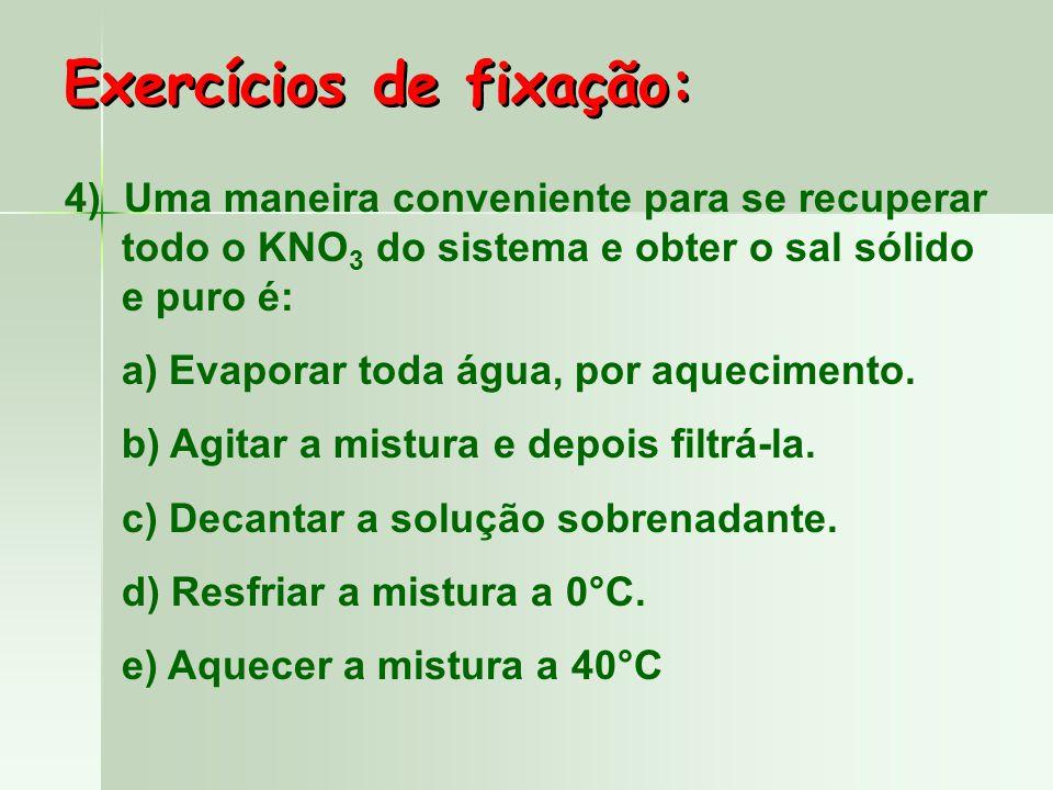 3) Essa mistura heterogênea, inicialmente a 20°C, é aquecida até 60°C.
