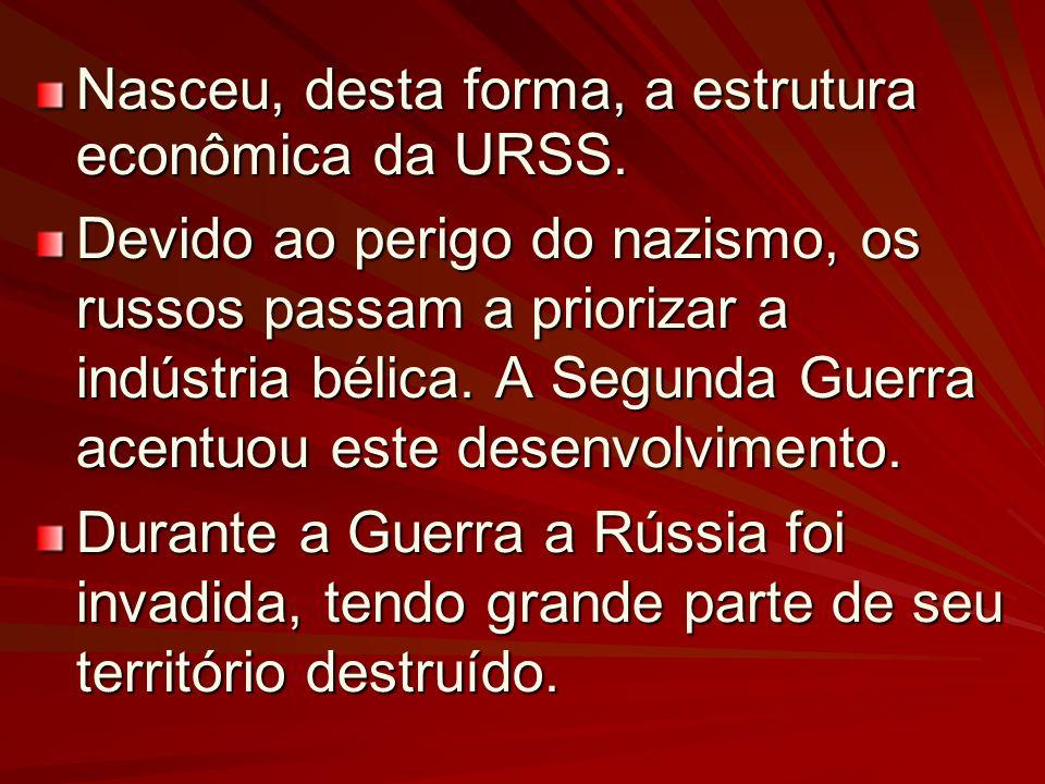 Nasceu, desta forma, a estrutura econômica da URSS.