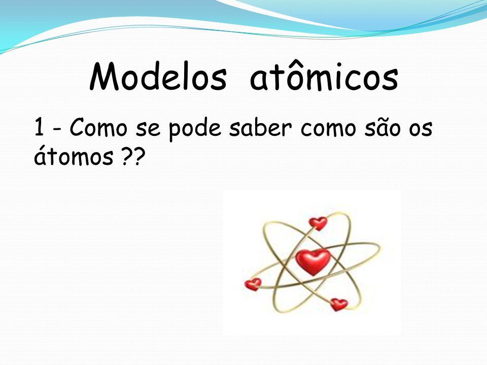 Modelos atômicos 1 - Como se pode saber como são os átomos ??