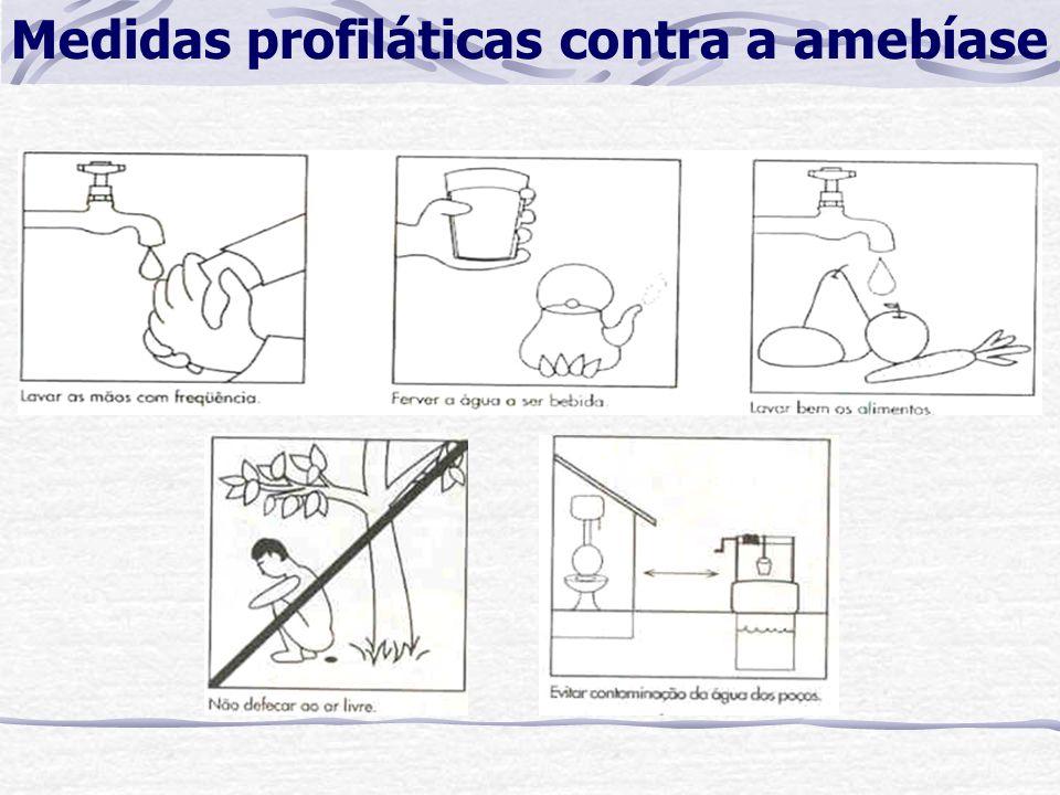 Medidas profiláticas contra a amebíase