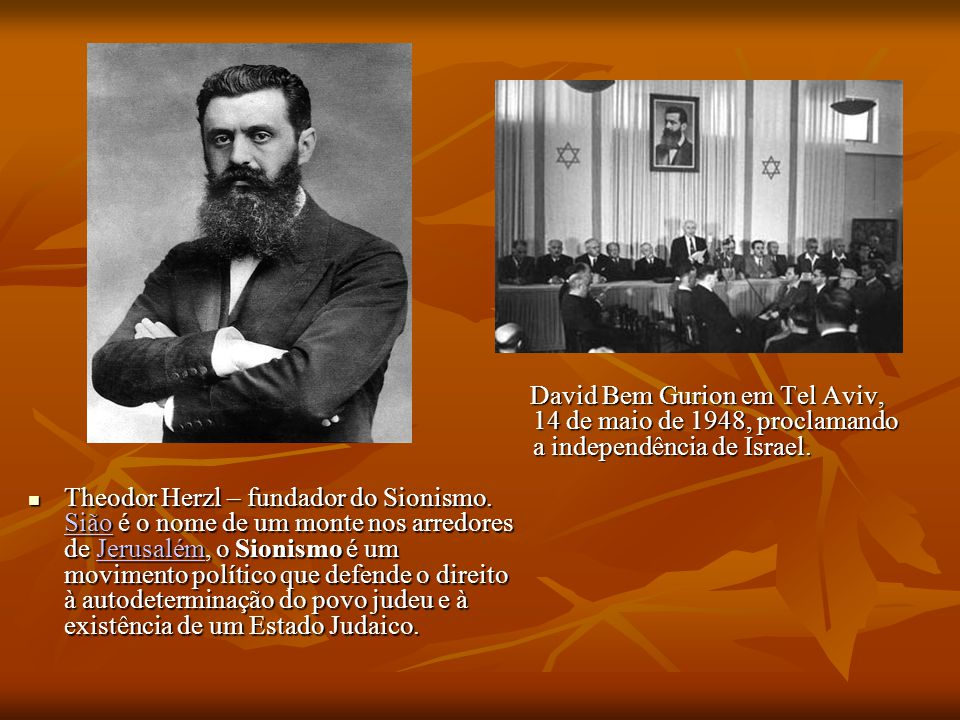 Theodor Herzl – fundador do Sionismo.