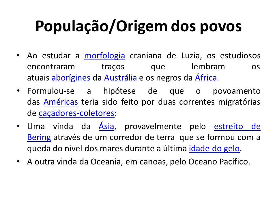 População Ameríndia Entres os Ameríndios destacam-se: – Astecas (que habitavam áreas onde hoje corresponde ao México); – Maias (que habitavam áreas da América Central); – Incas (que habitavam uma vasta área da Cordilheira dos Andes).