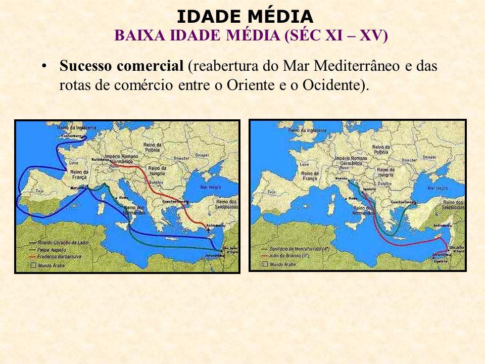 IDADE MÉDIA BAIXA IDADE MÉDIA (SÉC XI – XV) 4 – O RENASCIMENTO COMERCIAL: Cidades italianas.