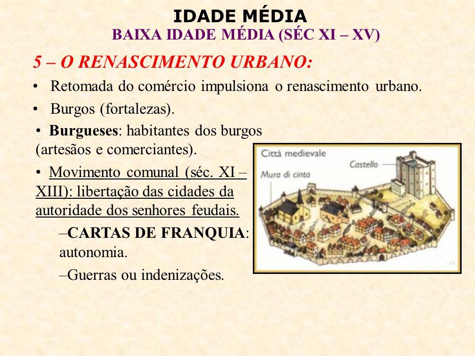 IDADE MÉDIA BAIXA IDADE MÉDIA (SÉC XI – XV) GUILDAS: associações de mercadores (monopólio do comércio local, controle da concorrência estrangeira, regulamentação de preços).