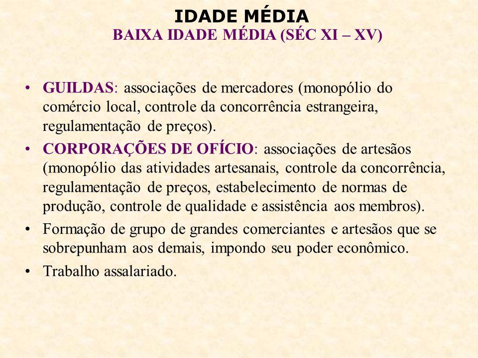 IDADE MÉDIA BAIXA IDADE MÉDIA (SÉC XI – XV) 6 – FORMAÇÃO DAS MONARQUIAS NACIONAIS: Aliança entre reis e burgueses.