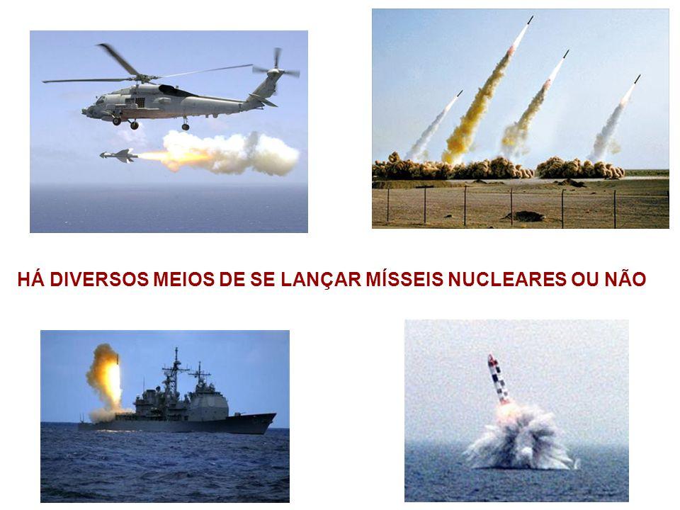 HÁ DIVERSOS MEIOS DE SE LANÇAR MÍSSEIS NUCLEARES OU NÃO