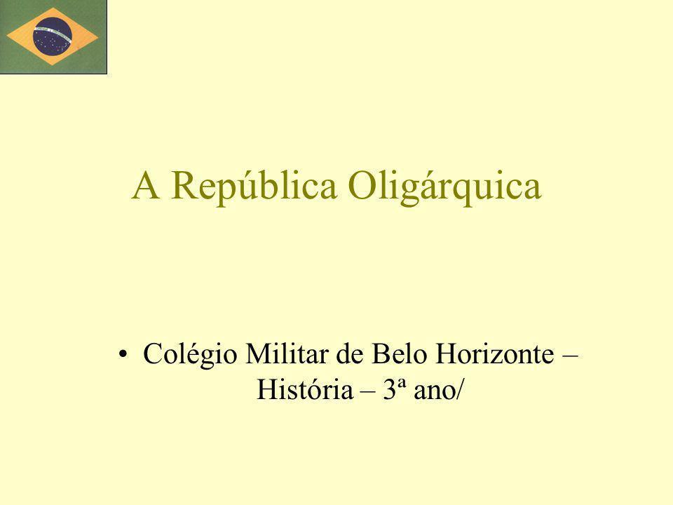 Objetivos a.Definir oligarquia e coronelismo.