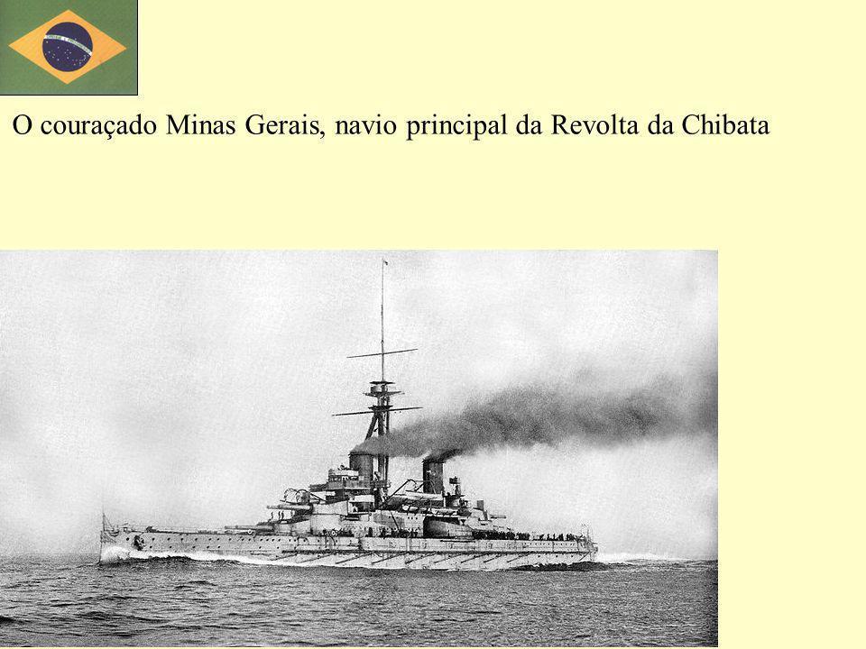 O couraçado Minas Gerais, navio principal da Revolta da Chibata