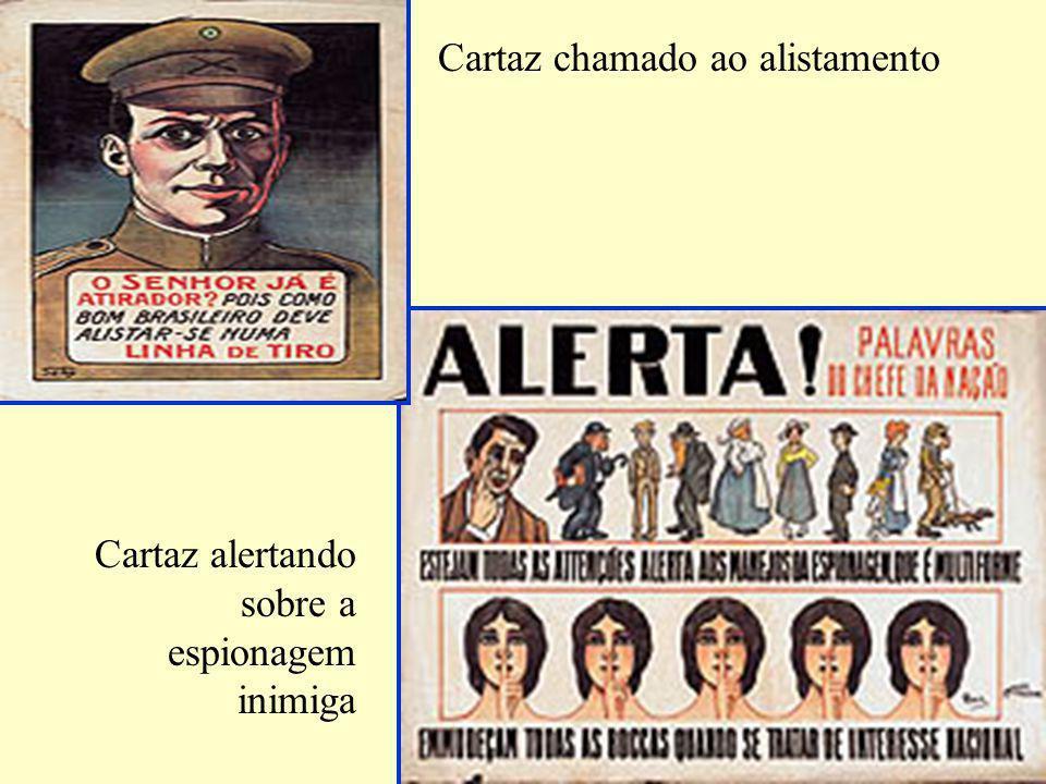 Cartaz chamado ao alistamento Cartaz alertando sobre a espionagem inimiga