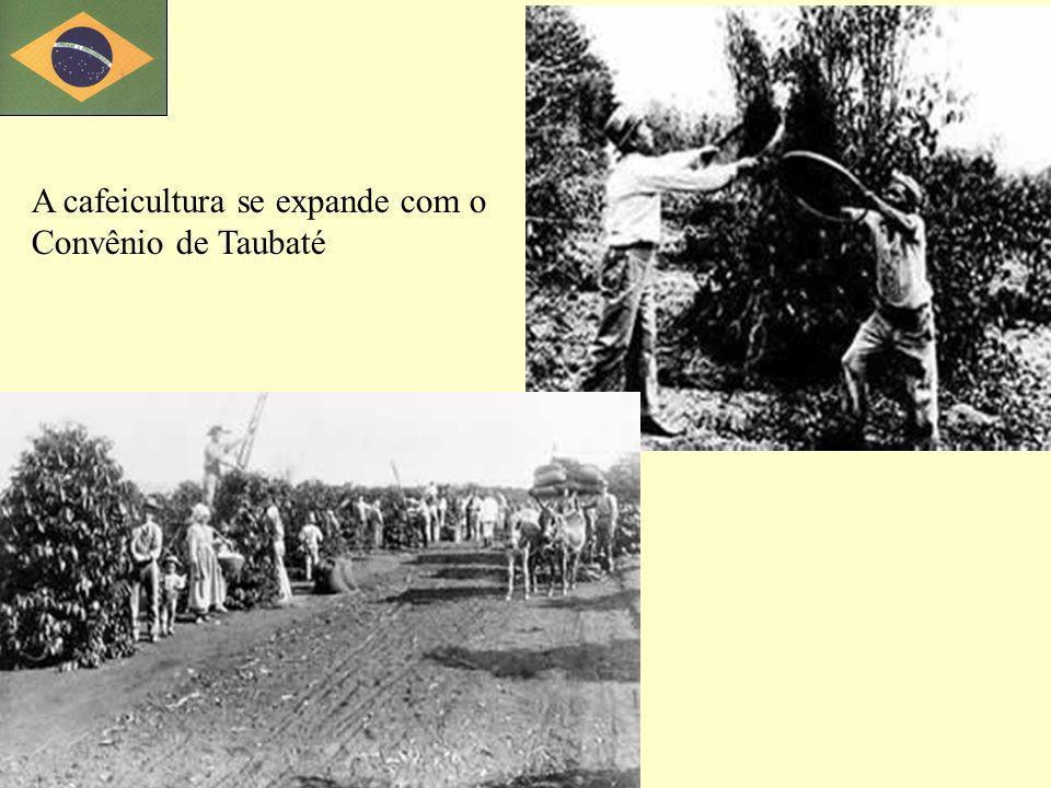 A cafeicultura se expande com o Convênio de Taubaté