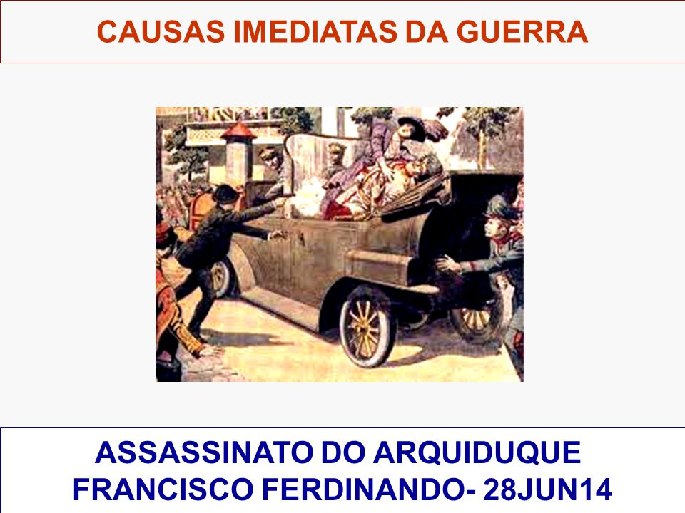 ASSASSINATO DO ARQUIDUQUE FRANCISCO FERDINANDO- 28JUN14