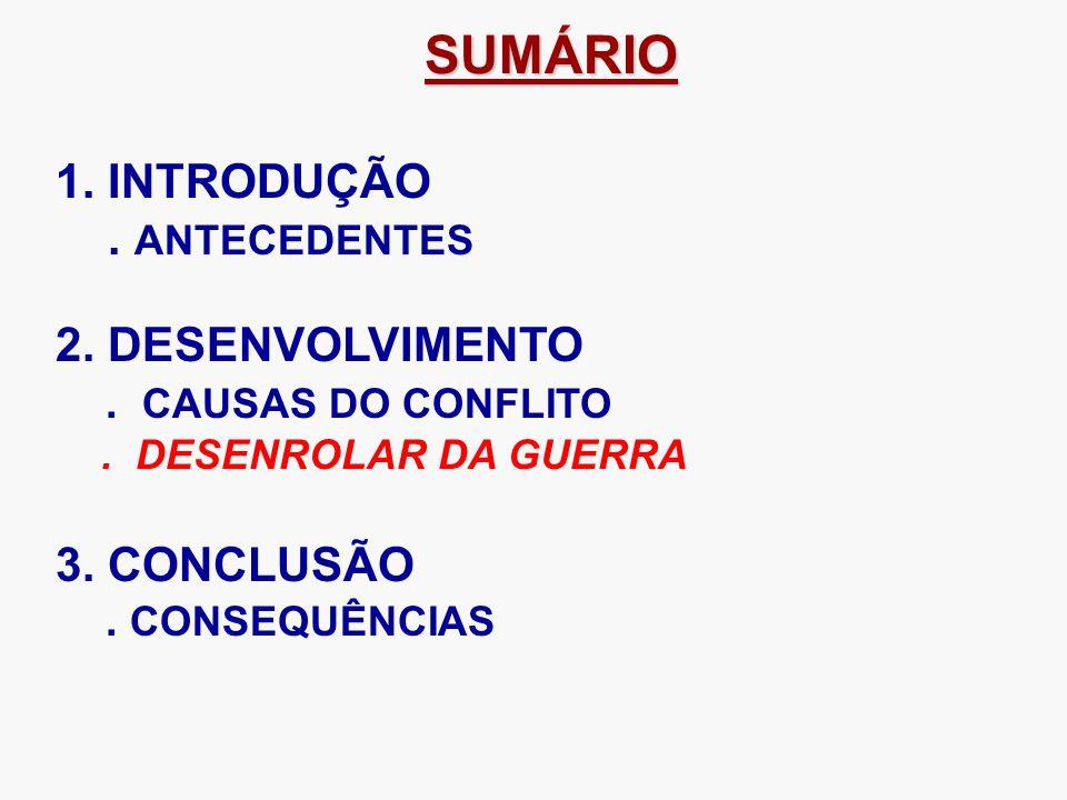 SUMÁRIO SUMÁRIO 1.INTRODUÇÃO. ANTECEDENTES 2. DESENVOLVIMENTO.