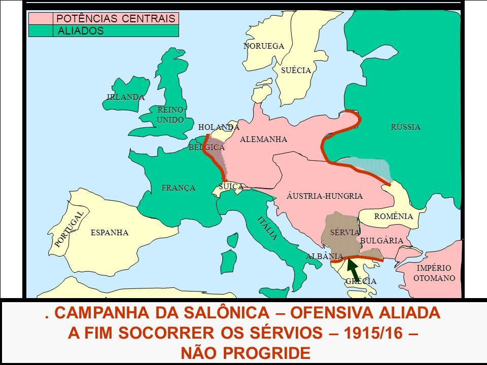 ÁFRICA ESPANHA FRANÇA ALEMANHA RÚSSIA ÁUSTRIA-HUNGRIA IMPÉRIOOTOMANO ITÁLIA REINOUNIDO PORTUGAL GRÉCIA BULGÁRIA ROMÊNIA HOLANDA SUÉCIA NORUEGA.