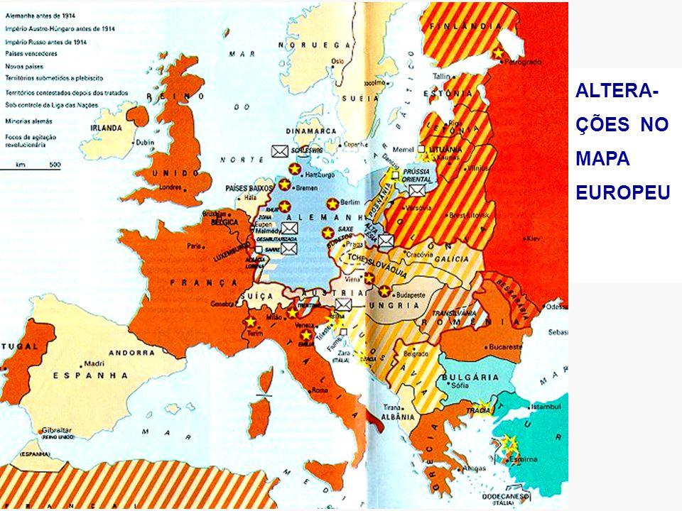 ALTERA- ÇÕES NO MAPA EUROPEU