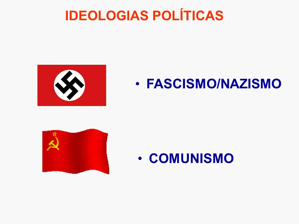 IDEOLOGIAS POLÍTICAS FASCISMO/NAZISMO COMUNISMO
