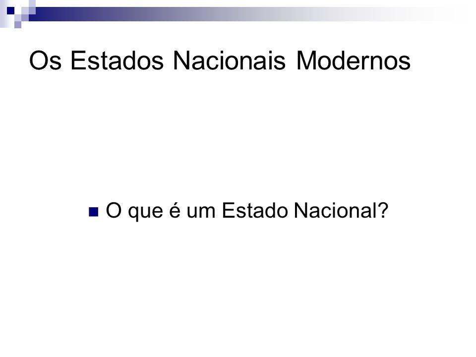 Os Estados Nacionais Modernos O que é um Estado Nacional?