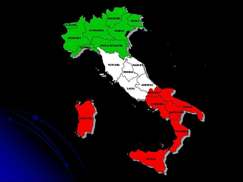 Regiões Econômicas da Itália Regiões Norte e Nordeste – são as mais desenvolvidas, por apresentarem elevado nível de industrialização e urbanização.