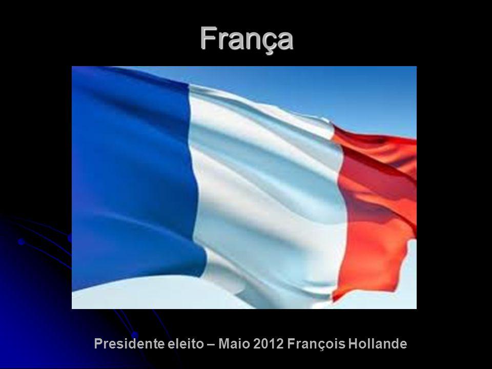 França Presidente eleito – Maio 2012 François Hollande