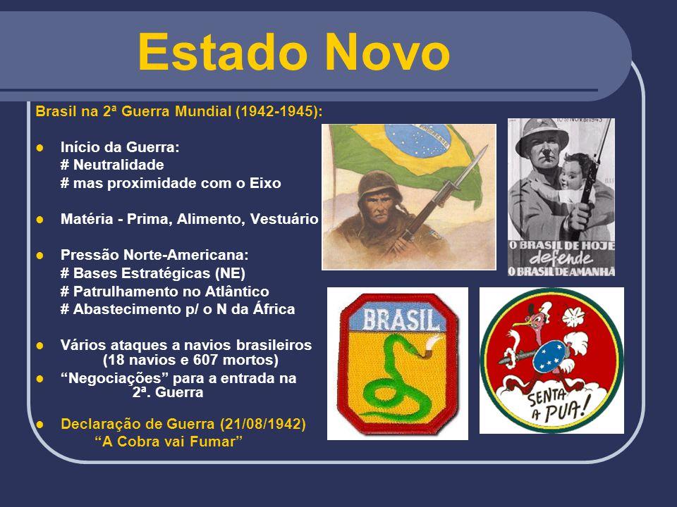 Estado Novo Brasil na 2ª Guerra Mundial (1942-1945): Início da Guerra: # Neutralidade # mas proximidade com o Eixo Matéria - Prima, Alimento, Vestuári