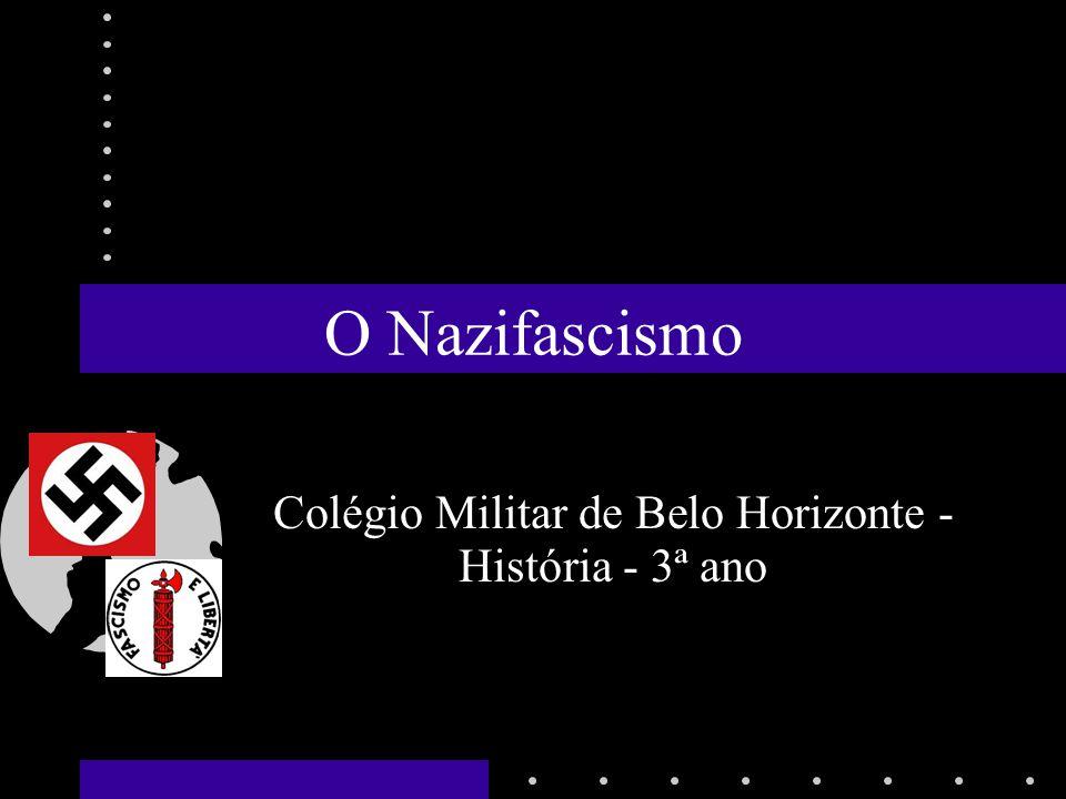 O Nazifascismo Colégio Militar de Belo Horizonte - História - 3ª ano