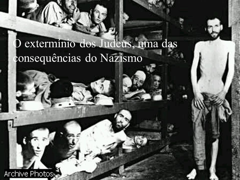 O extermínio dos Judeus, uma das consequências do Nazismo
