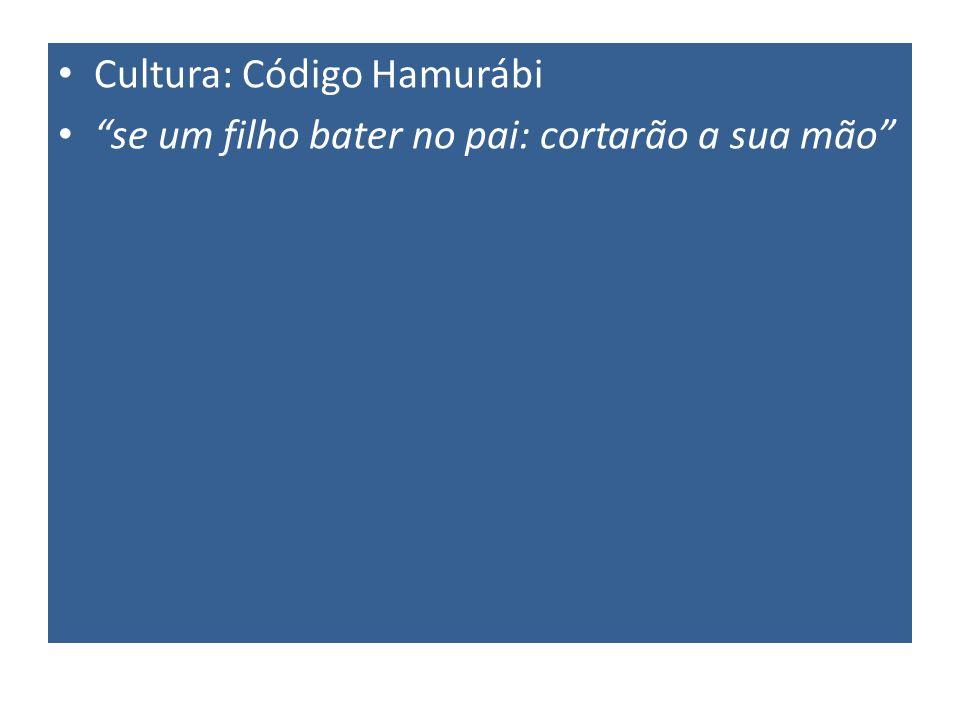 Cultura: Código Hamurábi se um filho bater no pai: cortarão a sua mão