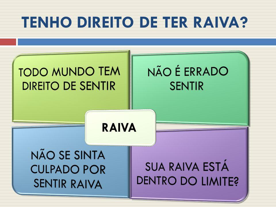 VOCÊ TEM DIREITO DE SENTIR RAIVA.