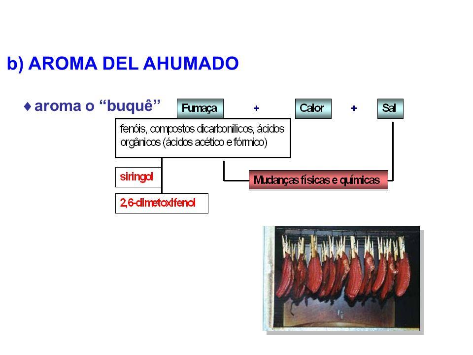 b) AROMA DEL AHUMADO aroma o buquê