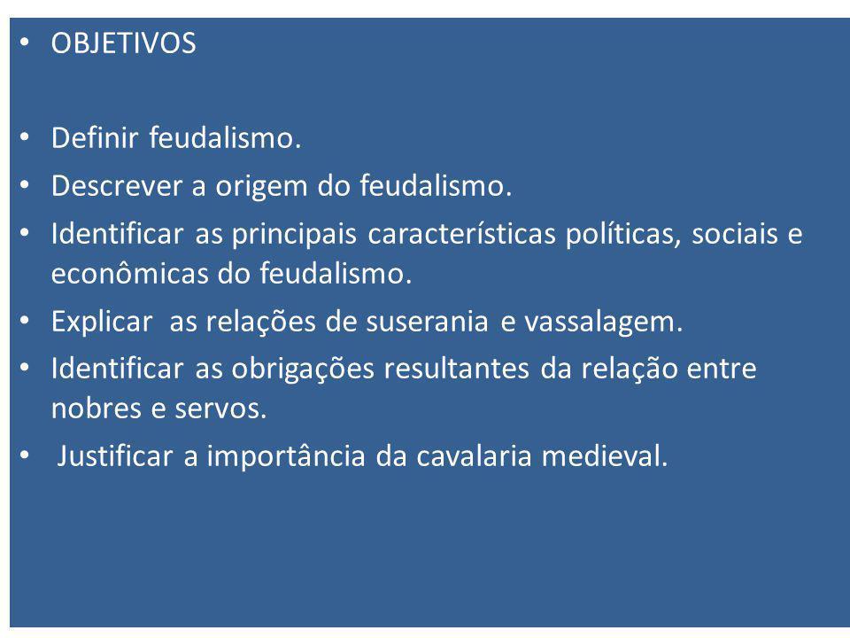OBJETIVOS Definir feudalismo.Descrever a origem do feudalismo.