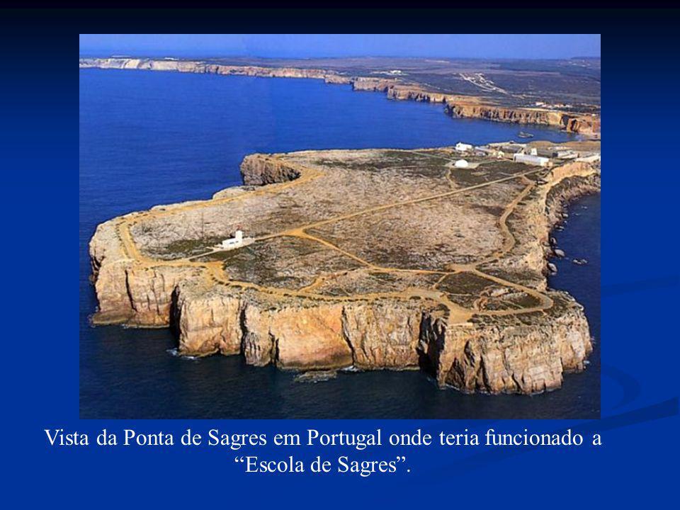 Vista da Ponta de Sagres em Portugal onde teria funcionado a Escola de Sagres.