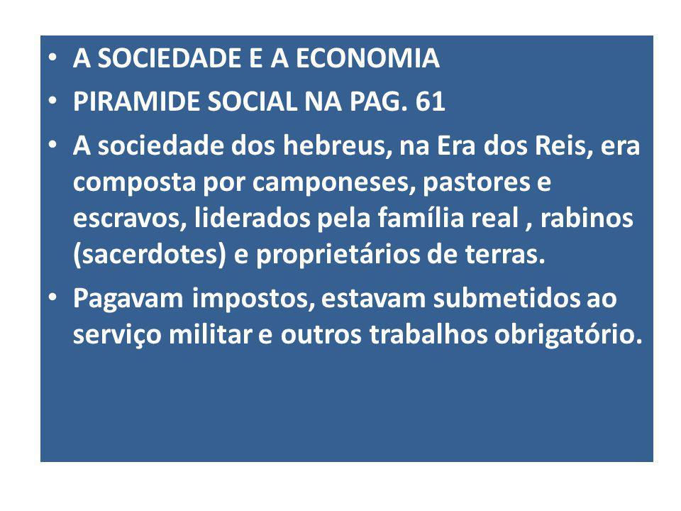 A SOCIEDADE E A ECONOMIA PIRAMIDE SOCIAL NA PAG.