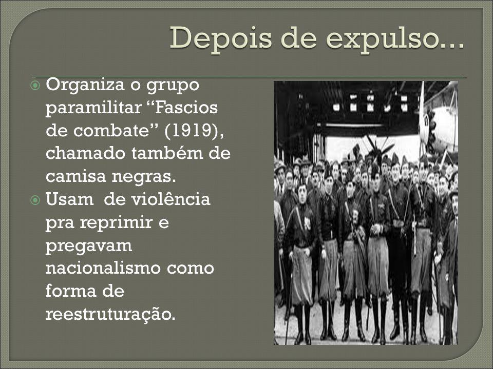 Socialista que foi expulso do movimento por ter defendido a entrada da Itália na guerra.