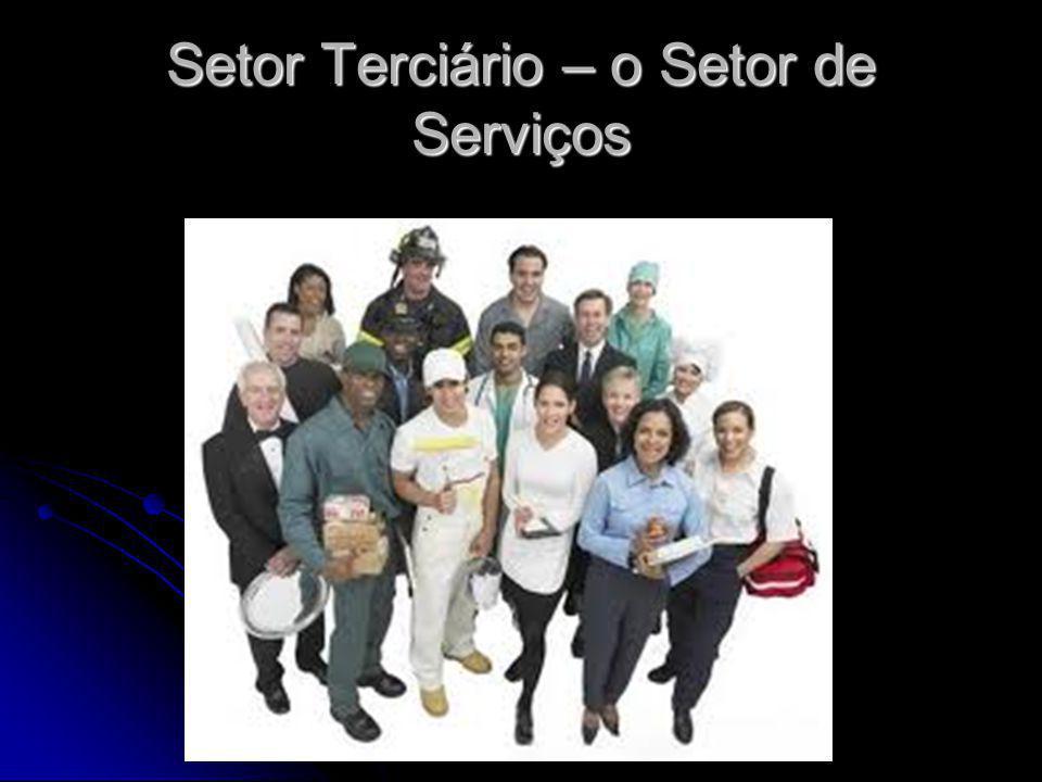 Setor Terciário – o Setor de Serviços