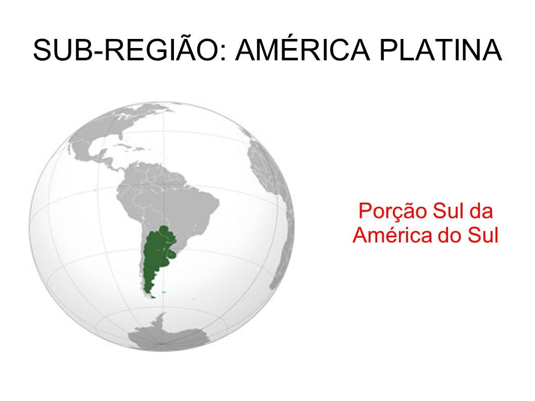 SUB-REGIÃO: AMÉRICA PLATINA Porção Sul da América do Sul