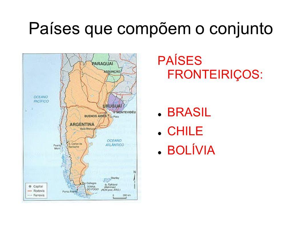 ARGENTINA E URUGUAI Agropecuária com aplicação de alta tecnologia na região dos pampas (AGROINDÚSTRIAS); Produção de carne e cereais; Na Argentina o extrativismo mineral (Petroléo e Gás Natural) também é destaque na economia – região da Patagônia; No Uruguai destaca-se a pecuária de ovinos para extração da lã (forte indústria têxtil); O Uruguai tem um dos melhores indicadores sócio-econômicos da América Latina.