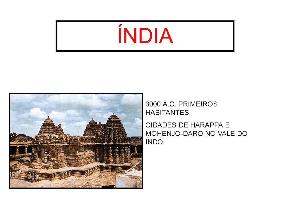 ÍNDIA 3000 A.C. PRIMEIROS HABITANTES CIDADES DE HARAPPA E MOHENJO-DARO NO VALE DO INDO