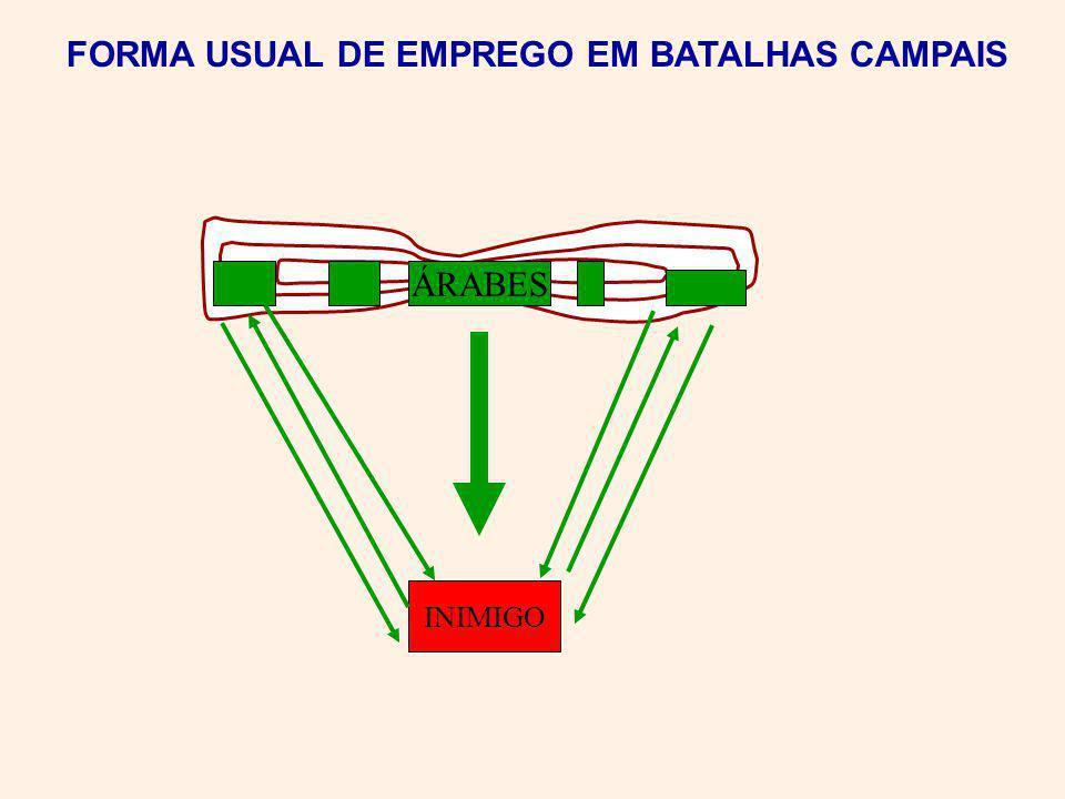 INIMIGO ÁRABES FORMA USUAL DE EMPREGO EM BATALHAS CAMPAIS