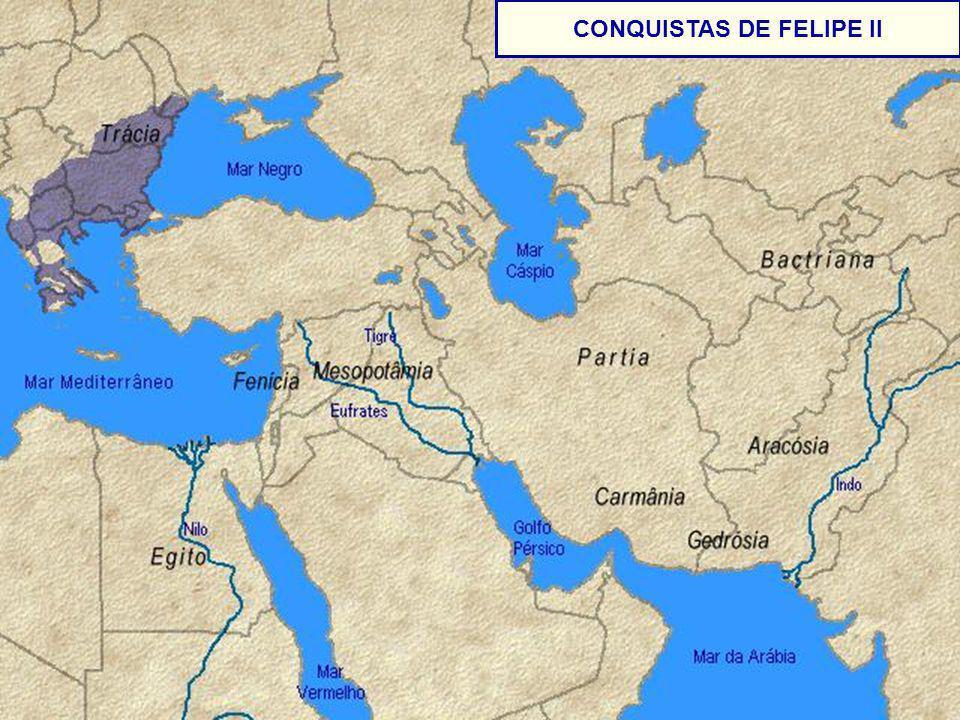 - CONQUISTAS DE FELIPE II